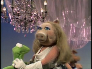 "Kermit and Miss Piggy, the Muppets' hot potential couple, make a rare appearance in an installment of the recurring ""At the Dance"" interstitials."