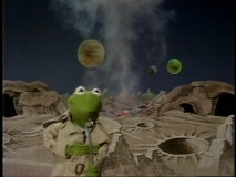 Kermit reports on location at alien planet Koozebania.