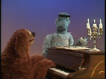 "Rowlf and Sam Eagle perform an entertaining duet of ""Tit Willow."""