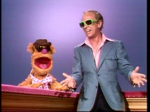 Fozzie Bear and Don Knotts compare just how cool they look wearing sunglasses.