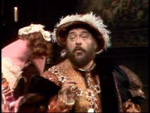 "Zero Mostel hams it up for a song from ""Camelot."""
