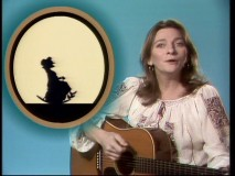 With some welcome accompaniment from shadow puppetry, Judy Collins sings about the old lady who swallowed a fly.