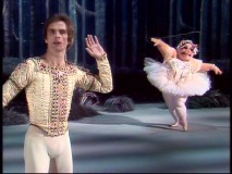 Do you hear what Rudolf Nureyev hears? What other kind of partner could he expect for Swine Lake?