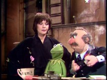 Kermit finds both Jaye P. Morgan and Muppet Theatre owner J.P. Grosse overhearing some private gripes.