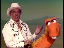Bob Hope doesn't look too thrilled to have inherited his episode's closing horse number.