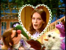 "Mia Farrow is the special guest star for the very first Muppet Show pilot, ""The Muppets Valentine Show"", in which she interacts (in-person) with a cast that was largely remade for the actual series."
