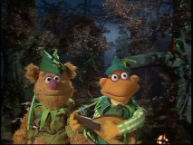 The Muppets do Robin Hood... for the entirety of Lynn Redgrave's episode. Seen here are Fozzie Bear as Little John and Scooter as Alan-a-Dale.