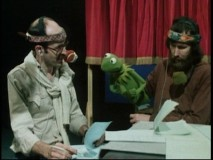 """A Company of Players"" includes lots of vintage behind-the-scenes Muppet goodness. Here, Frank Oz (left) and Jim Henson (right) portray Fozzie and Kermit (middle), respectively."