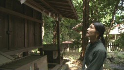 "In ""The Locations of Totoro"", actress Mayu Tsuruta surveys a shrine that's nearly identical to the one featured in the film."
