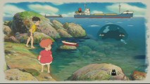"Sosuke, Ponyo, and the various items around them are clickable icons that lead to either film clips or animation in the Ponyo section of ""Enter the Lands."""