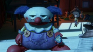 Glum clown Chuckles (voiced by Bud Luckey) narrates an arresting flashback, one of the film's best sequences.