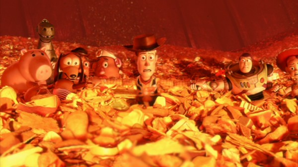 "Facing the incinerator of the Tri-County Landfill, the beloved toys of the Toy Story series band together and pray for a miracle in the best film of the half-decade, ""Toy Story 3."""