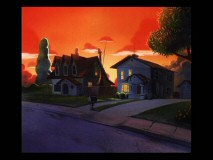 An early version of Andy's house at sunset is found among the concept art gallery's pieces.