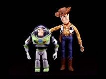 The Toys & Stuff gallery features, among other things, the Woody and Buzz dolls that sold like hotcakes Christmas 1995.