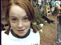 "Lindsay Lohan on the set of her first movie, as seen in ""Updating a Classic."""