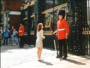 Hallie meets this guard and later the Queen, in this deleted scene.