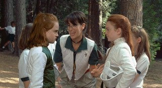 Lindsay Lohan plays twins Annie and Hallie who discover each other for the first time at summer camp.