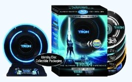 Tron: Legacy & Tron: Ultimate Blu-ray Collection with identity disc packaging -- click to preorder