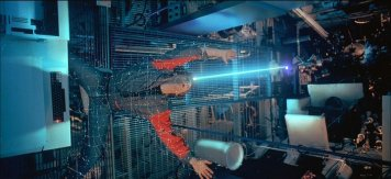 "Jeff Bridges gets digitzed and frozen in one of the most iconic moments of ""Tron."""