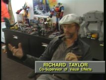 Richard Taylor, co-supervisor of visual effects, appears in a Development section.