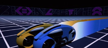 "Brace yourself for the excitement of a light cycle race in the original ""Tron."""