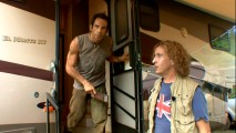 """Rain of Madness"" hilariously documents the movie within a movie. Here, British director Damien Cockburn (Steve Coogan) is not pleased to learn why his star Tugg Speedman (Ben Stiller) has been holding up filming cooped up in his trailer."