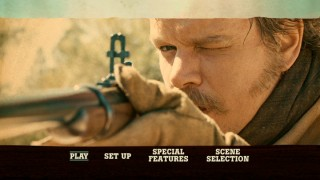 LaBoeuf (Matt Damon) takes aim. You needn't be a sharpshooter to get what you want from the DVD's routine main menu.