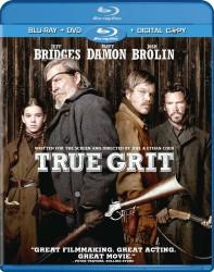 True Grit Blu-ray+ DVD + Digital Copy combo pack cover art