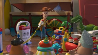 With the useful Mike at his side, Woody tries to ease the fears of Andy's toys.