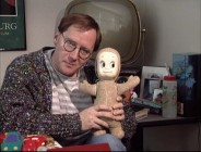 "After all these years, John Lasseter is still especially fond of his Casper doll. The pair appears over ten years ago in ""Making 'Toy Story.'"""