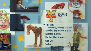 Like the Toy Story: 10th Anniversary Edition DVD, Disc 2's menus all take the floating artwork approach.