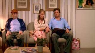 There's an awkward dynamic between the three adults (Matthew Broderick, Helen Hunt, Colin Firth) present for April's amniocentesis.