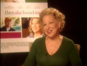 Bette Midler does her best impression of Bette Midler's Then She Found Me poster pose in her interview.