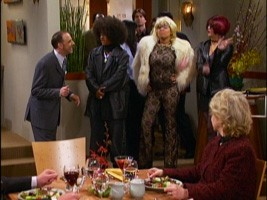 The three friends dress up, as they do in nearly every episode.
