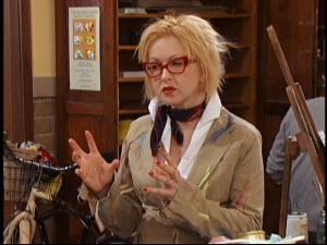 "Cyndi Lauper guest stars as Raven, Chelsea, and Eddie's eccentric art teacher in ""Art Breaker."""