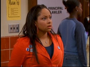 Raven does a believable dramatic take as she finds out that Ben's never told anyone about his psychic visions.