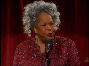 "Jazz star and actress Della Reese drops in for an angelic appearance in ""The Four Aces."""