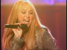 "Hannah Montana poses the question ""Who said, who said I can't be Superman?"" as well as the answer ""I say, I say that I know I can"" in the included concert music video."