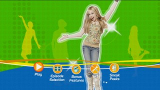 "Hannah Montana comes first, but the lead characters of each of the three series are featured in the animated main menu for ""That's So Suite Life of Hannah Montana."""