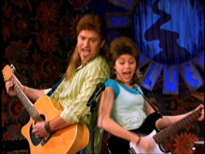 "It's no ""Achy Breaky Heart"", but father and daughter perform a little ""I Want My Mullet Back."""