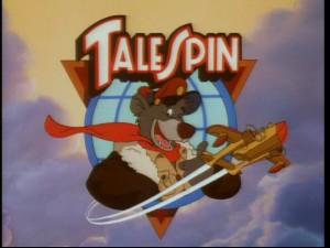 "Baloo opts for a :thumb: in the ""TaleSpin"" opening logo."