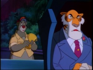Baloo and Shere Khan reflect on how they've come a long way from their time in the Indian jungle together.