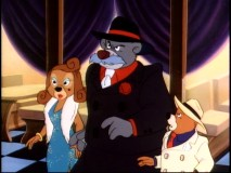 "Rebecca, Baloo, and Kit dress up in old gangster garb in ""Bringing Down Babyface."""