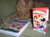 "The underwhelming minature ""collectible"" Prince and the Pauper ""storybook."" Cat not included."