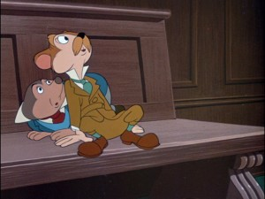 "It's Mr. Rat and Mr. Mole, as they appear in their debut Disney short ""The Wind in the Willows."" They would show up again many years later in ""Mickey's Christmas Carol."""