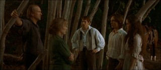 The Tucks (left to right: William Hurt, Sissy Spacek, Scott Bairstow, and Jonathan Jackson) kidnap Winnie, more or less.