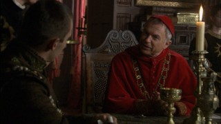Ever the politician, Cardinal Wolsey (Sam Neill) knows when to appease the king and when to push his own agenda.
