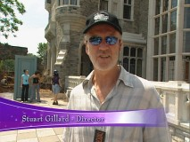 "Stuart Gillard, the movie's director, gives an interview on the set of ""Twitches."""