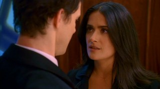 Thirty seconds alone in an elevator with Daniel, and Sofia (Salma Hayek) has already got him under her thumb.