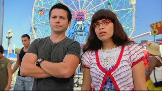 Gio (Freddy Rodriguez) temporarily puts aside his vendetta against Betty (America Ferrera) to watch Daniel and his son get into a disagreement.